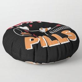 Happy Pills Guinea Pig Floor Pillow