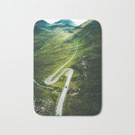 winding road in the faroe islands Bath Mat