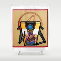 minions Shower Curtains featuring Sacred Vault Key Iconography by Colin Rand