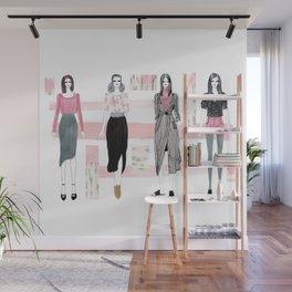 Pink Fashionary Wall Mural
