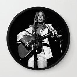 Joni Mitchell Photograph Wall Clock