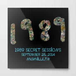 1989 Secret Sessions Anniversary Metal Print