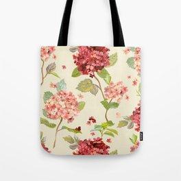 Fall Hydrangeas, Floral Print Tote Bag