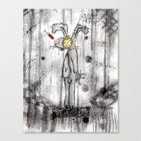 foo fighters Canvas Prints featuring Mr. Bunny Foo Foo by Ashleigh Ryan