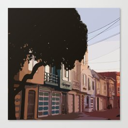 Sunset Houses, San Francisco  Canvas Print
