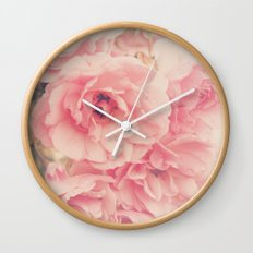 Roses in the Park Wall Clock