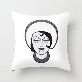 Gloria Swanson - B&W'S Divas Throw Pillow