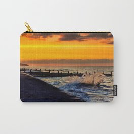 Ocean sunset at walcott Carry-All Pouch