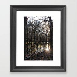 shadows & reflections Framed Art Print