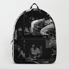 Kurtcobain Playing Guitar Poster Backpack