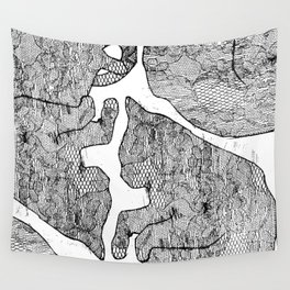 Cat Snuggles on Caturday Wall Tapestry