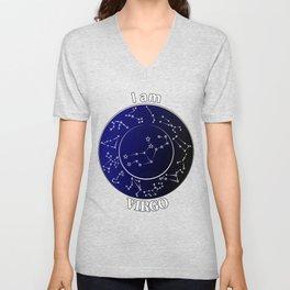 Zodiac constelation. Virgo Unisex V-Neck