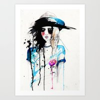 friday Art Prints featuring Friday by Holly Sharpe