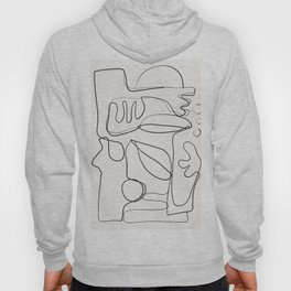 Abstract line art 10 Hoody
