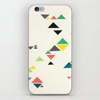 triangles iPhone & iPod Skins featuring Triangles by Cassia Beck
