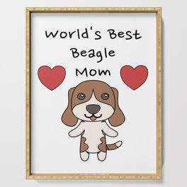 World's Best Beagle Mom   Cute Dog Mother Design Serving Tray