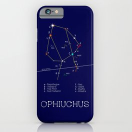 Zodiac Constellation Ophiuchus. Real Color Of The Stars iPhone Case
