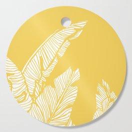 Banana Leaves on Yellow #society6 #decor #buyart Cutting Board