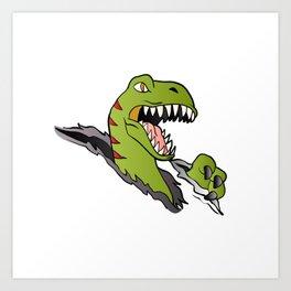 Velociraptor Dinosaur Art Print