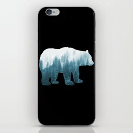 Misty Forest Bear - Turqoise iPhone Skin