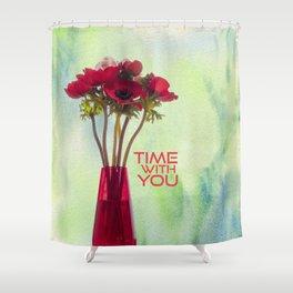 Anemoni Rossi Shower Curtain