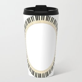 Pianom Keys Circle Travel Mug
