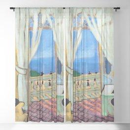 Henri Matisse Interior with a Violin Case Sheer Curtain
