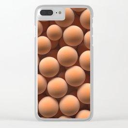 Orange spheres Clear iPhone Case