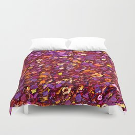 Straw Flowers in the Field Duvet Cover