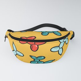 Balloon Animal Dogs Pattern in Yellow Fanny Pack