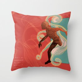 Don't be confined by the mirror's edge. Throw Pillow