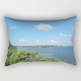 Panorama landscape nature sunrise sunset, river Rectangular Pillow