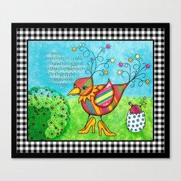 Momma Bird Canvas Print