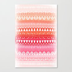 Triangle Gradient Pink Mix Canvas Print