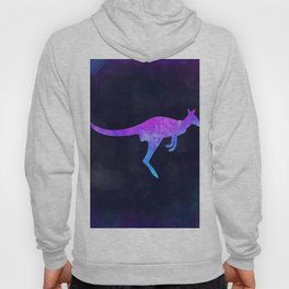 WALLABY IN SPACE // Animal Graphic Art // Watercolor Canvas Painting // Modern Minimal Cute Hoody