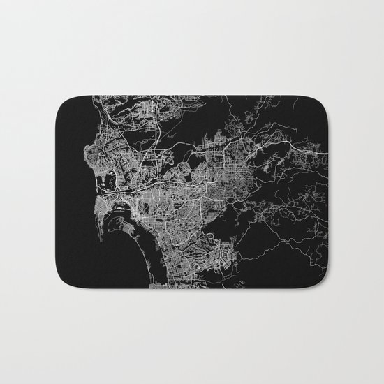 san diego map Bath Mat