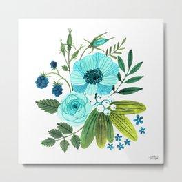 FLORA BLUES Metal Print