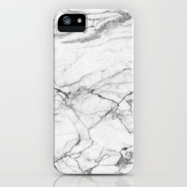 White Marble Stone iPhone Case