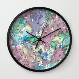 Design Tools,Watercolor Background Wall Clock