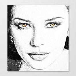 Face- Catherine Zeta Jones Canvas Print