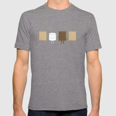 Life is S'more Fun Together Mens Fitted Tee Tri-Grey X-LARGE