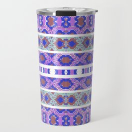 Vintage Striped Ornate Pattern Travel Mug