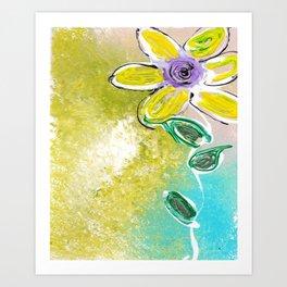 Single Yellow Flower Art Print