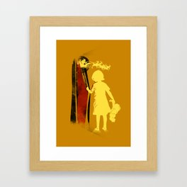santa will give me toy Framed Art Print