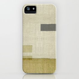 """Burlap Texture Natural Shades"" iPhone Case"