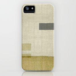"""Burlap Texture Natural Shades"" iPhone Case"