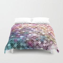 Rainbow glitter texture Duvet Cover