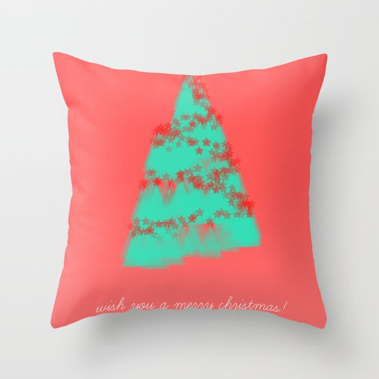 wish you a merry christmas! Throw Pillow
