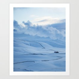 Blue Mornings Art Print