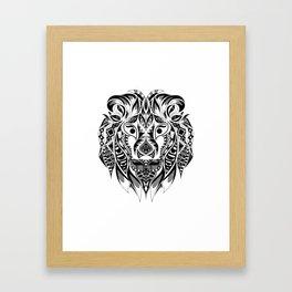 Mr Lion Ecopop Framed Art Print